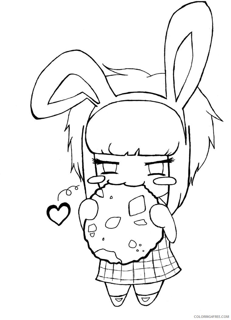 chibi anime coloring pages for kids Coloring4free