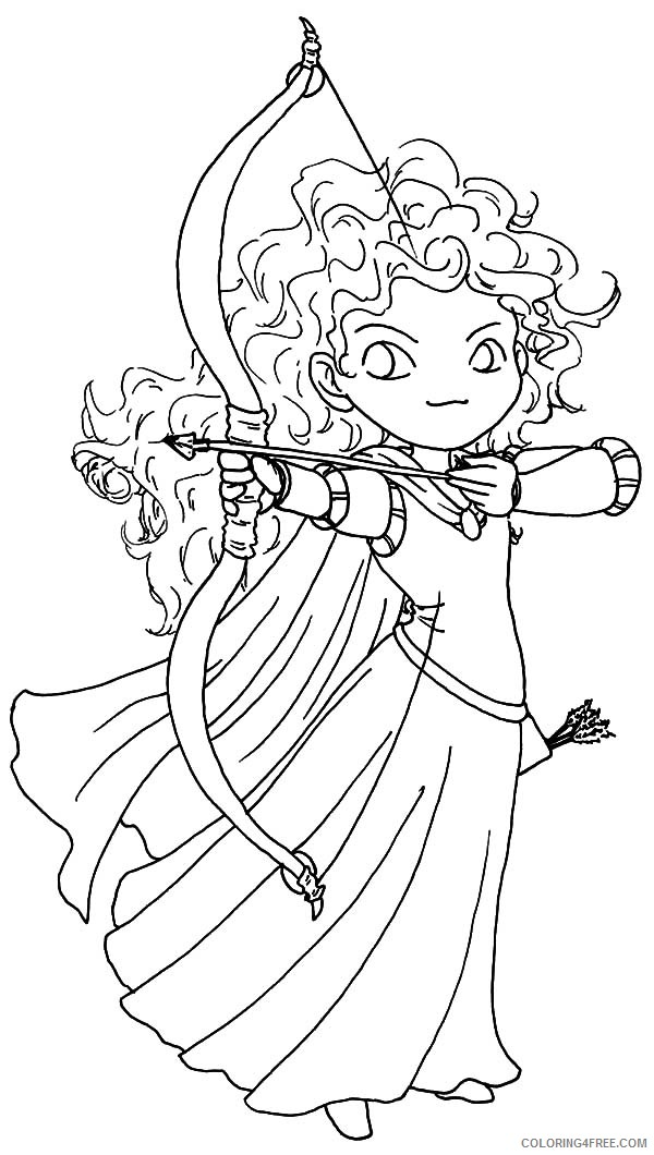chibi coloring pages disney brave Coloring4free