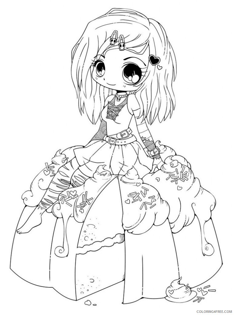 chibi coloring pages emo Coloring4free