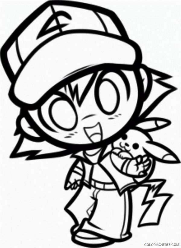 chibi coloring pages pokemon Coloring4free