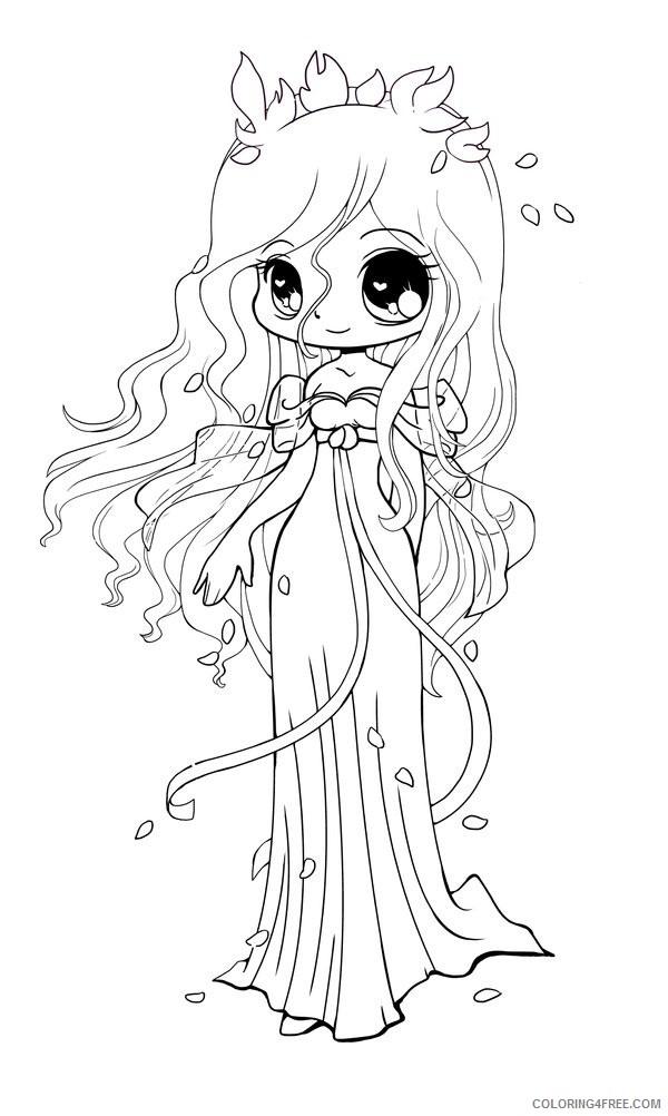 chibi coloring pages princess Coloring4free