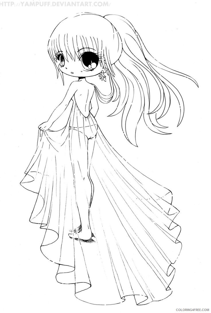 - Chibi Coloring Pages Printable Coloring4free - Coloring4Free.com