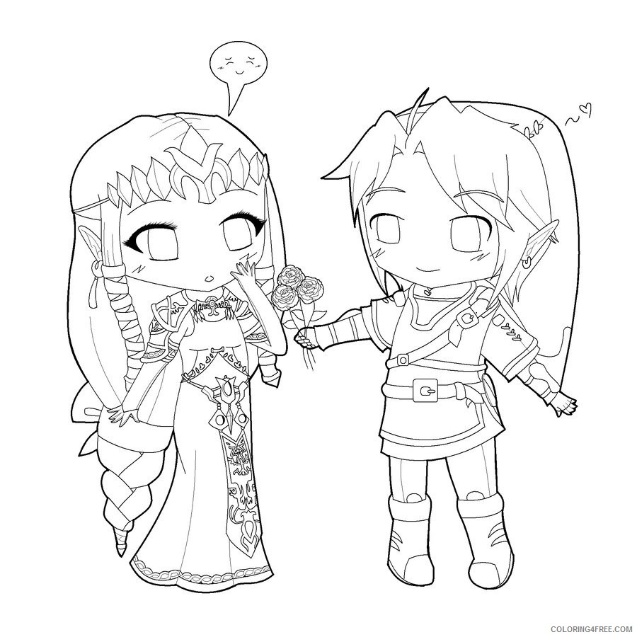 chibi couple coloring pages Coloring4free