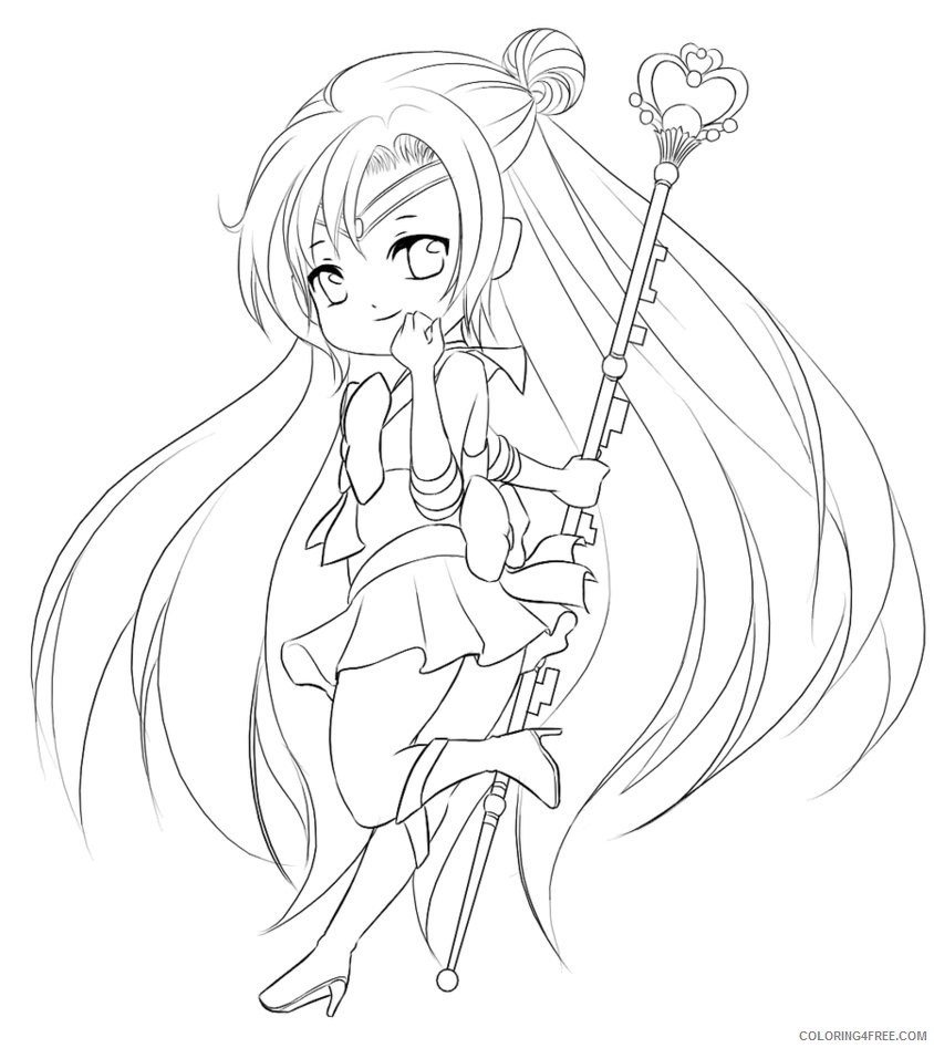 chibi sailor moon coloring pages 2 Coloring4free