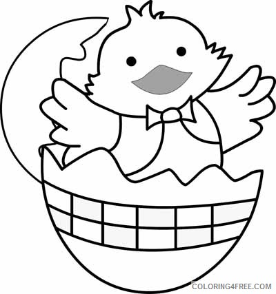 chick easter coloring pages Coloring4free