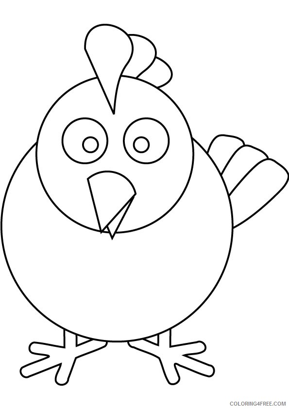 chicken coloring pages for preschool Coloring4free