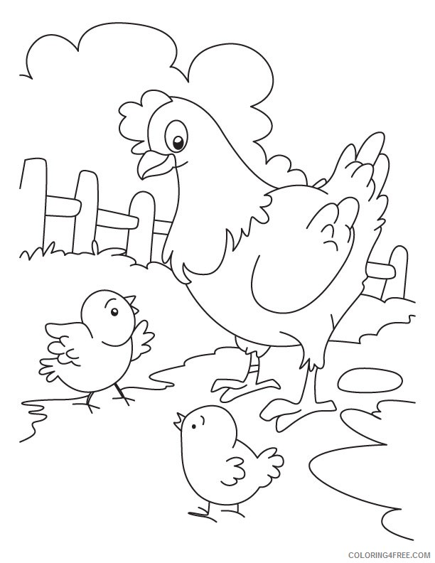 chicken coloring pages hen and chicks Coloring4free