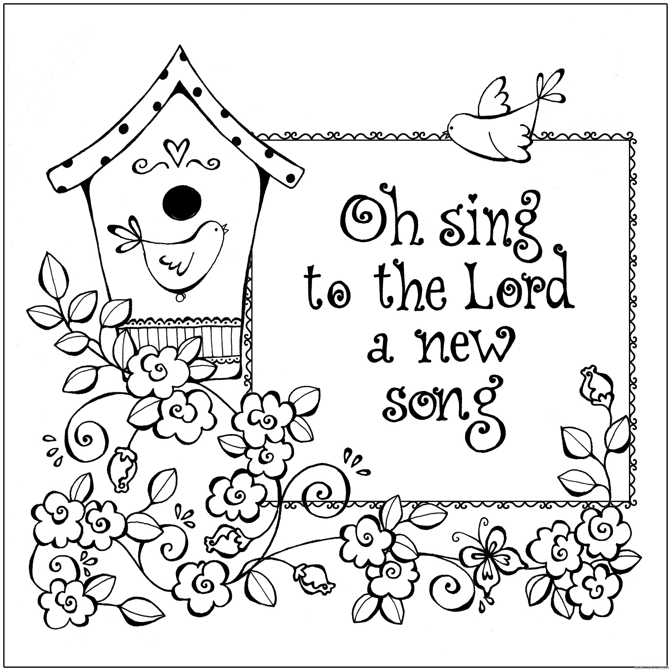 christian coloring pages bible verses Coloring4free
