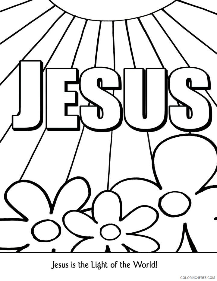 christian coloring pages jesus Coloring4free