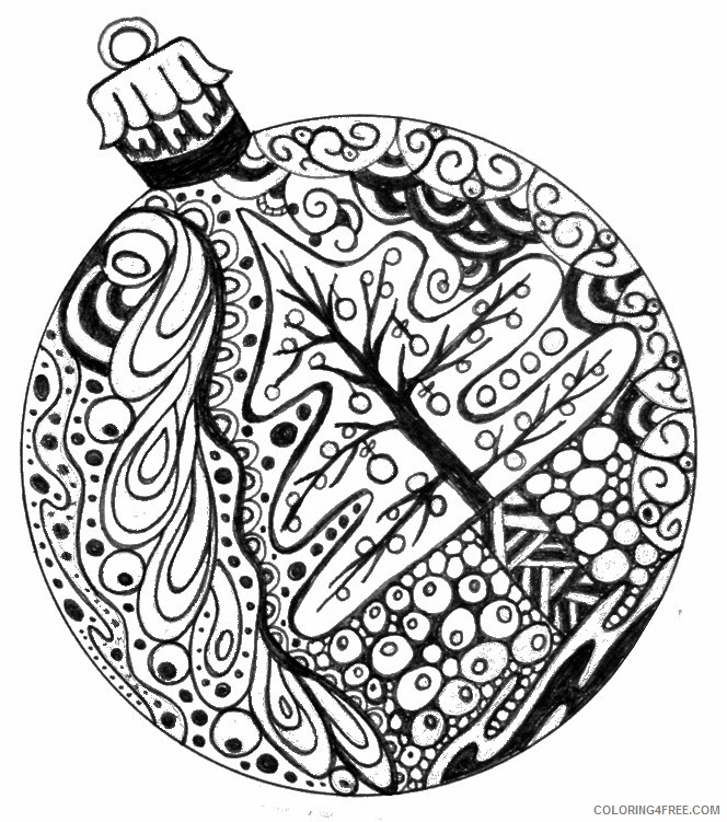 christmas adult coloring pages Coloring4free