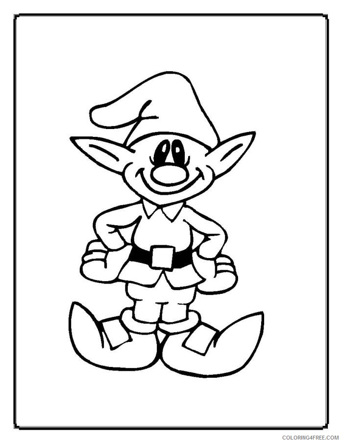 christmas elf coloring pages printable Coloring4free