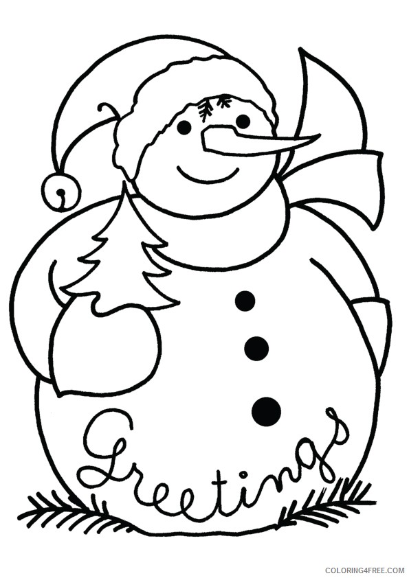 christmas snowman coloring pages Coloring4free