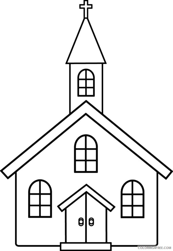 church coloring pages for preschool Coloring4free