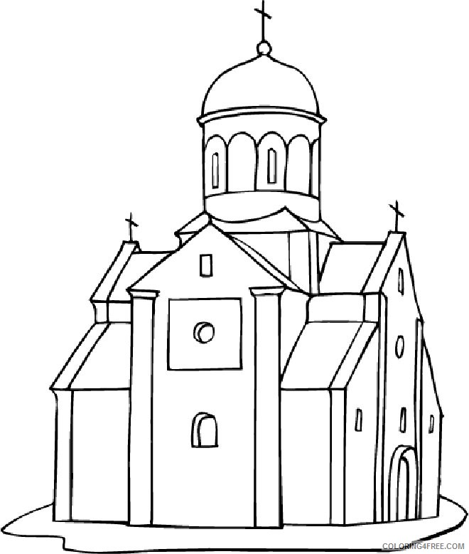 church coloring pages to print Coloring4free