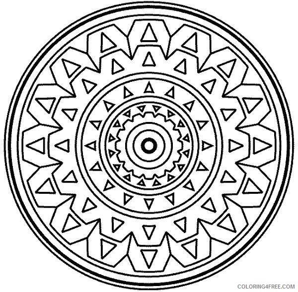circle mosaic coloring pages Coloring4free - Coloring4Free.com
