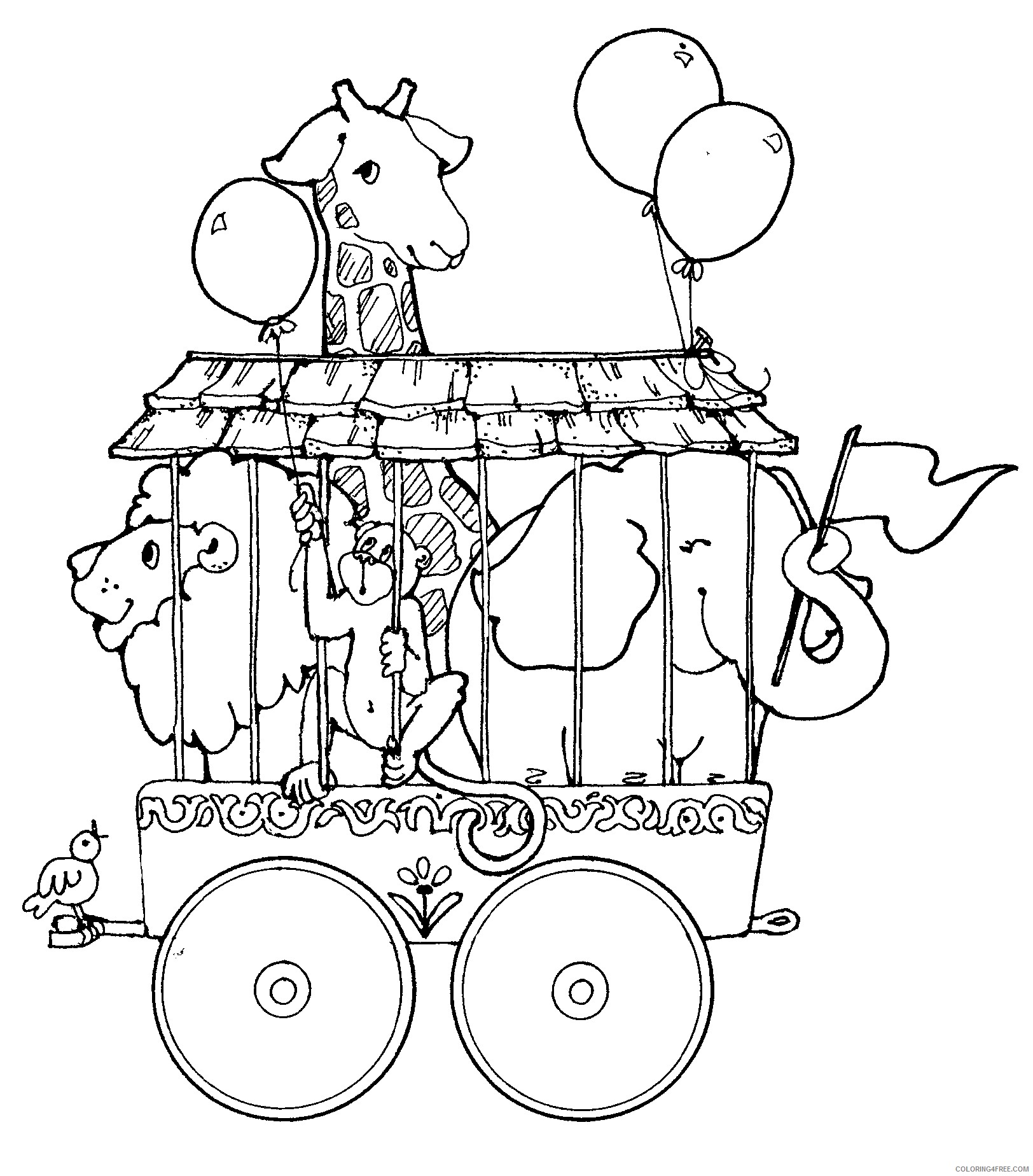 circus coloring pages animals Coloring4free