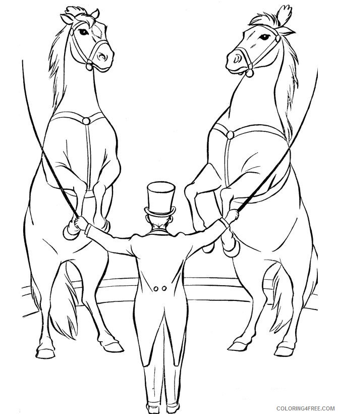 circus coloring pages horse Coloring4free