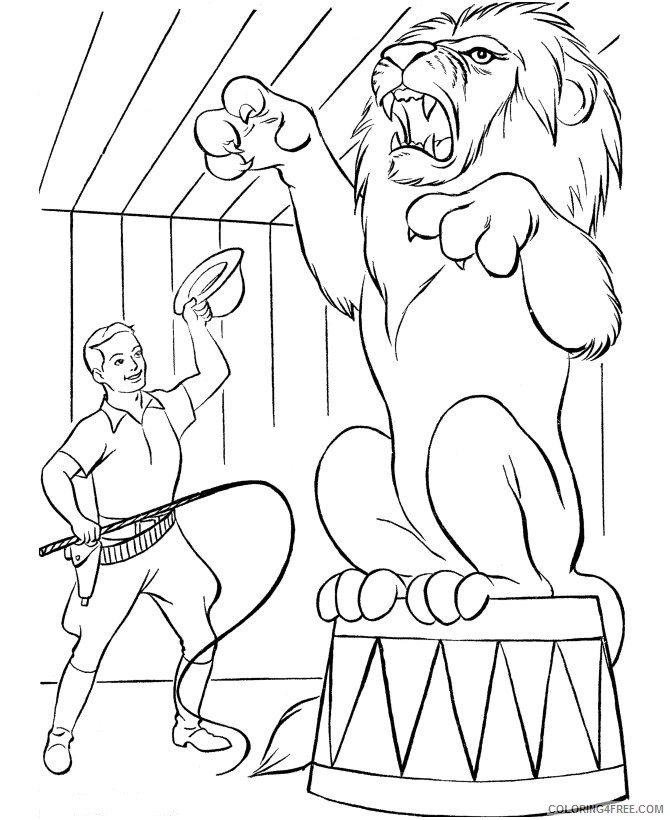 circus coloring pages lion taming Coloring4free
