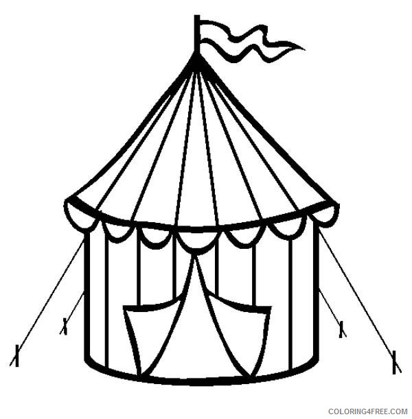 circus tent coloring pages Coloring4free