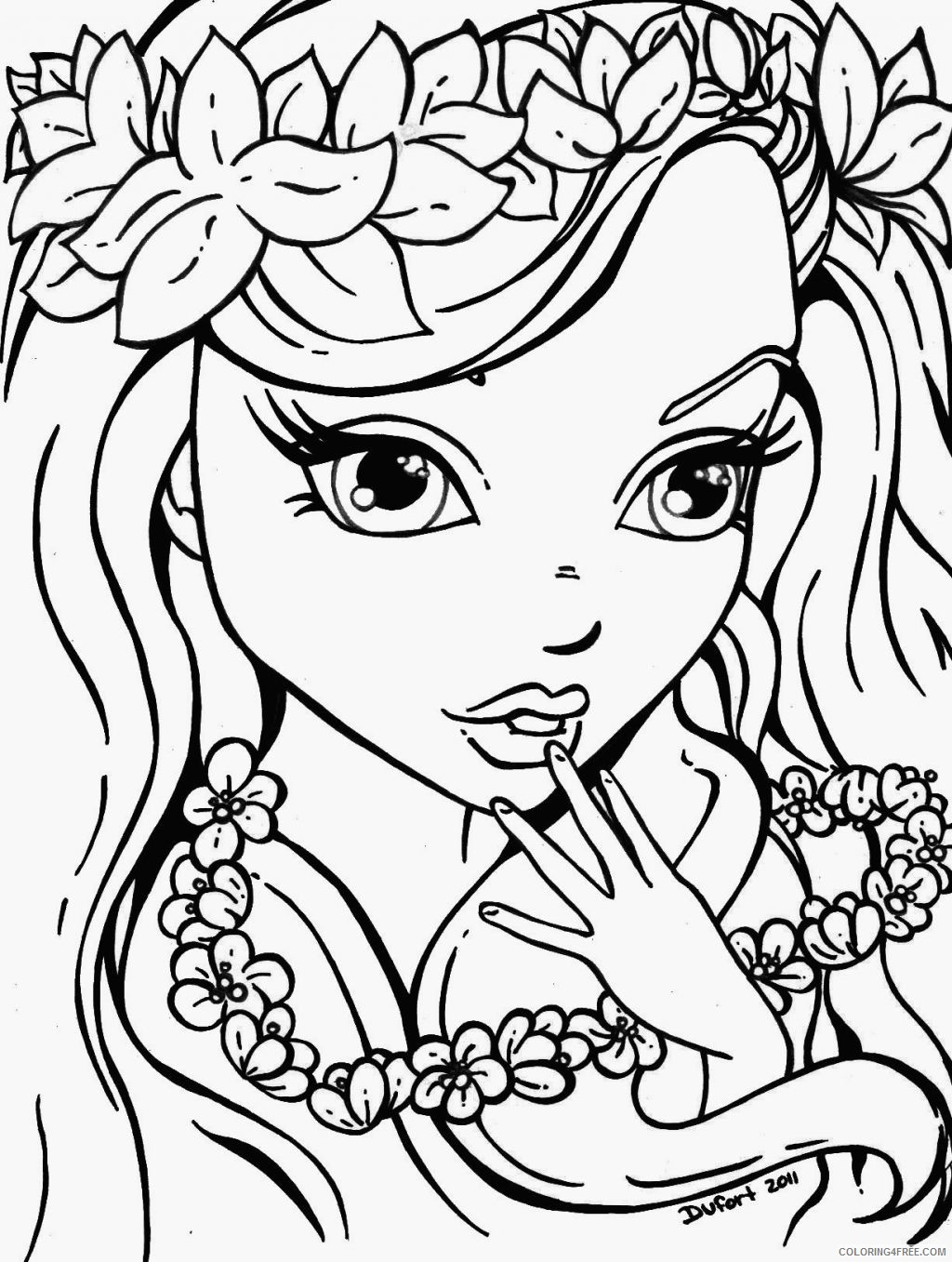 coloring pages for teens girl Coloring4free