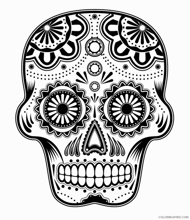 coloring pages for teens sugar skull Coloring4free