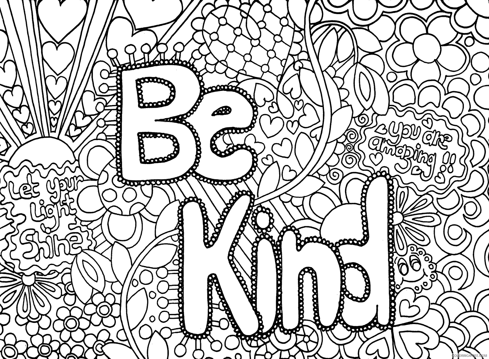 coloring pages for teens with words Coloring4free