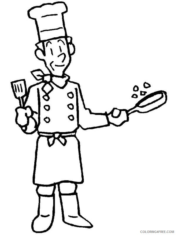 community helpers coloring pages chef Coloring4free