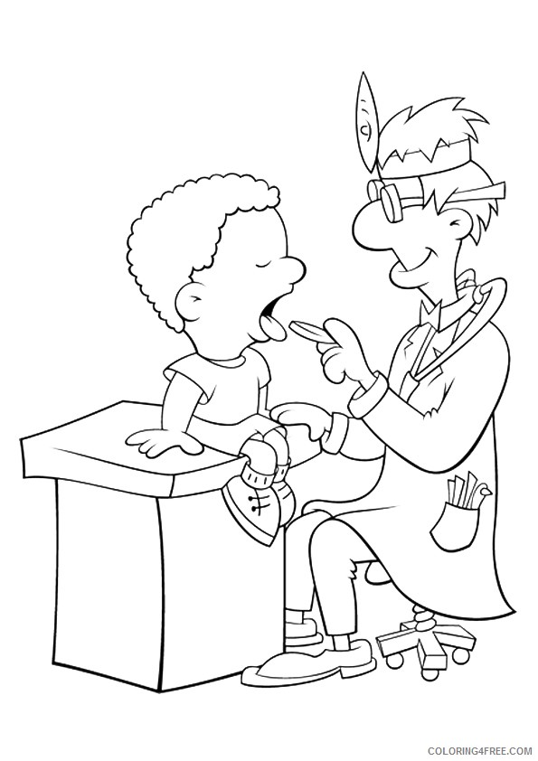 community helpers coloring pages dentist Coloring4free