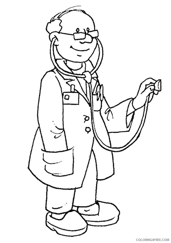 community helpers coloring pages doctor Coloring4free