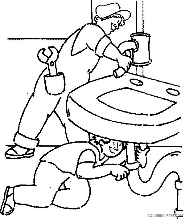 community helpers coloring pages plumber Coloring4free