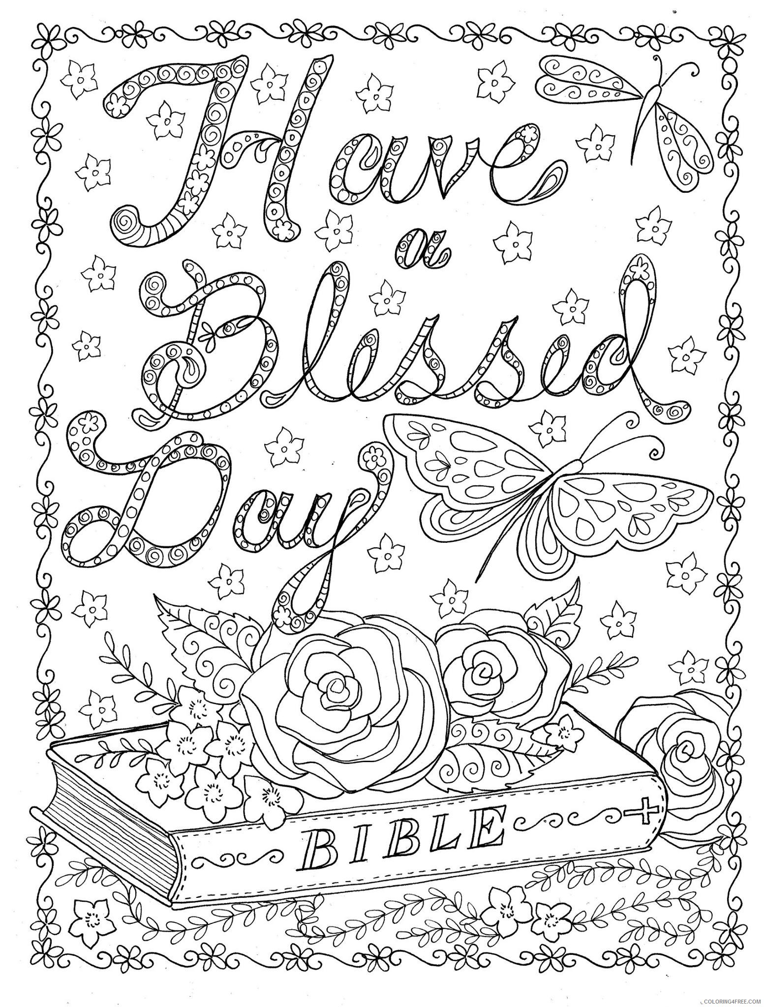 complex coloring pages bible Coloring4free