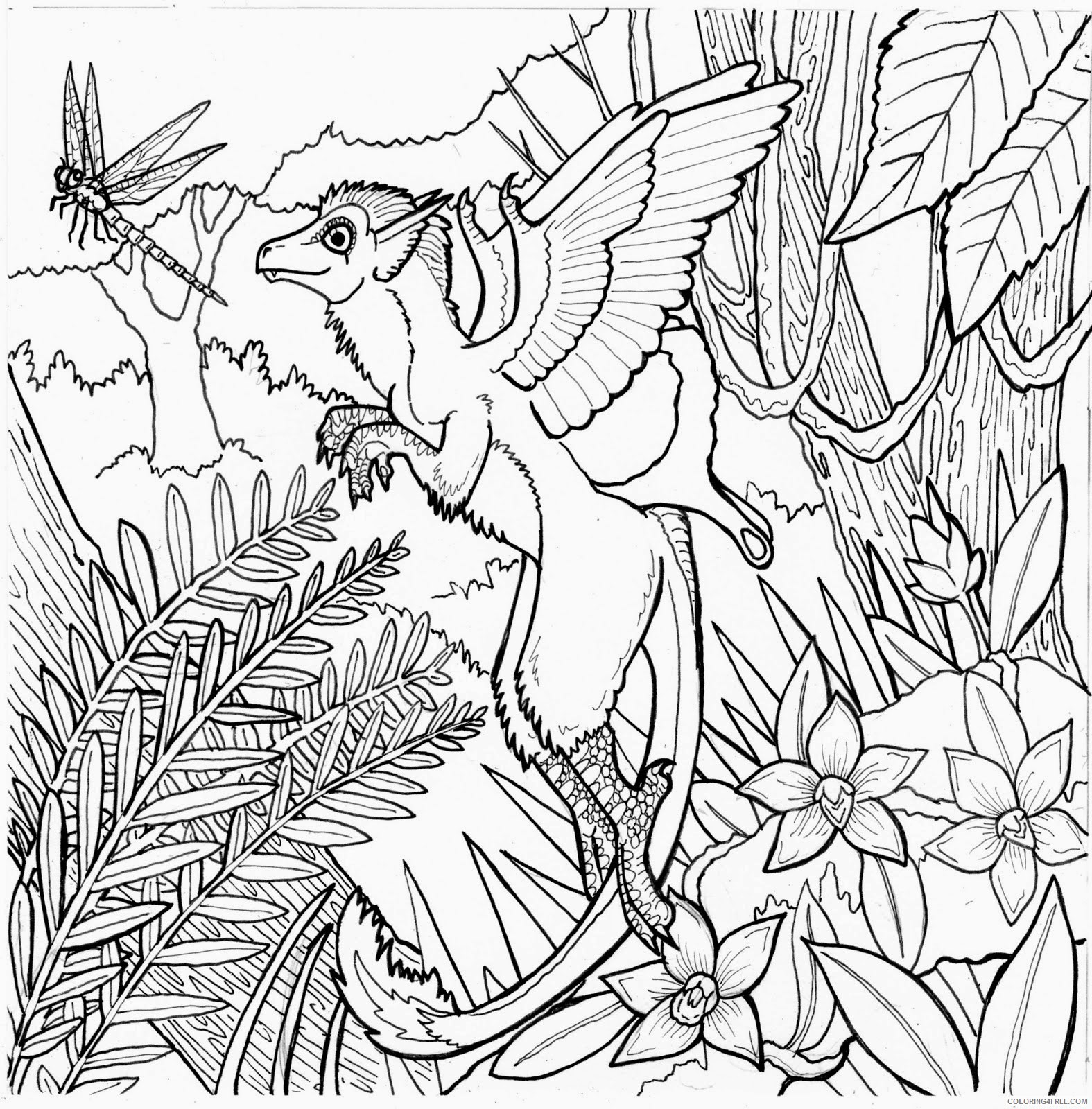 complex coloring pages fairy world Coloring4free
