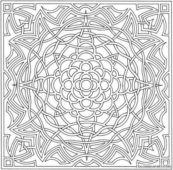 complex coloring pages geometric Coloring4free