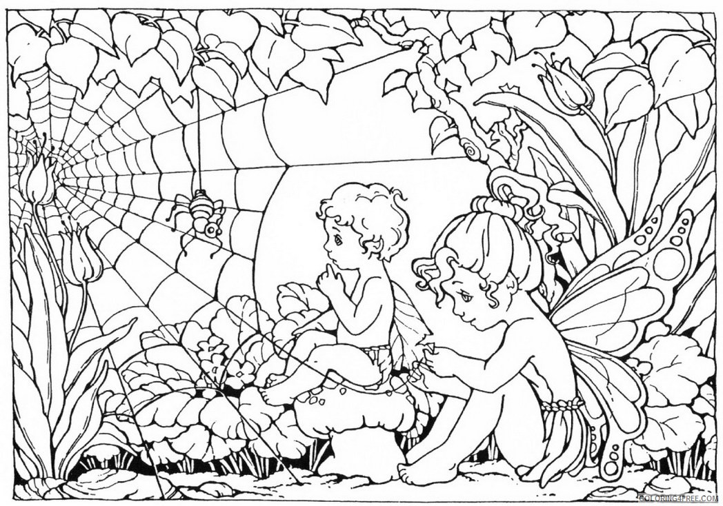 complex coloring pages of fairies Coloring4free