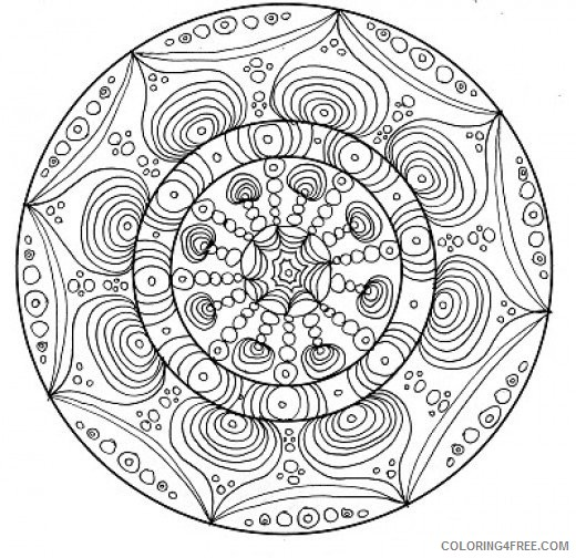 complex coloring pages of mandala Coloring4free