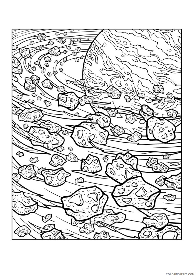 complex coloring pages space planet Coloring4free