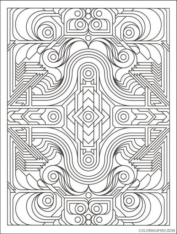 complex geometric coloring pages for adults Coloring4free