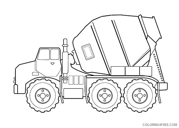 construction coloring pages cement mixer Coloring4free