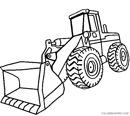 construction coloring pages vehicles Coloring4free