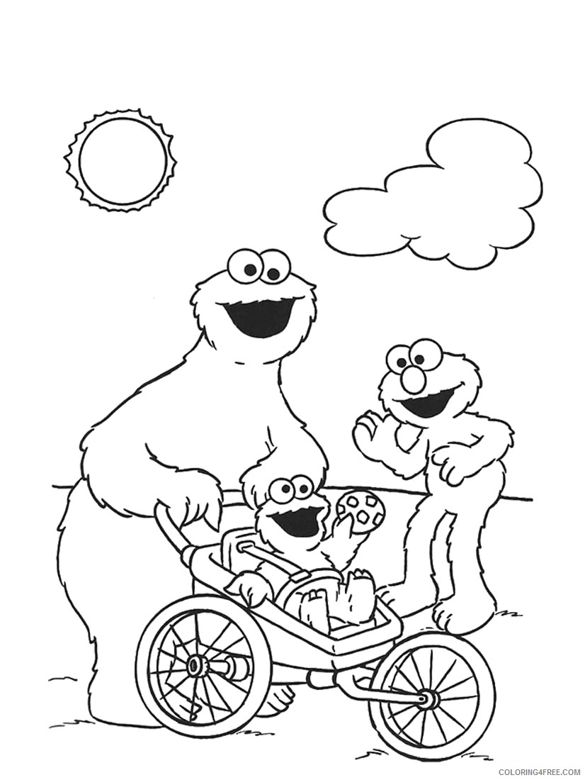 cookie monster coloring pages and friends Coloring4free