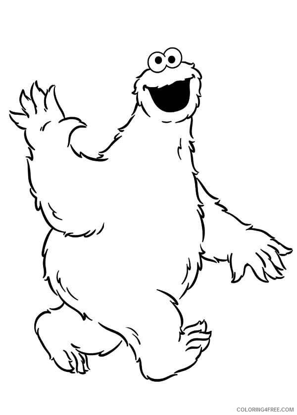 cookie monster coloring pages for kids Coloring4free