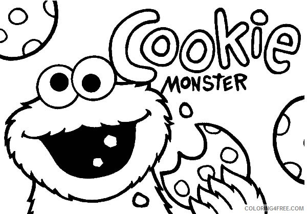 cookie monster coloring pages printable Coloring4free