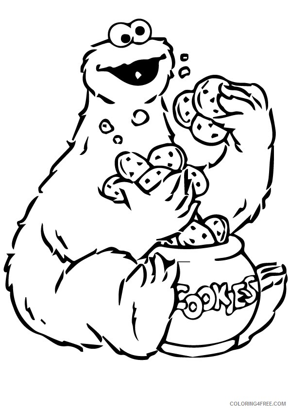 cookie monster coloring pages to print Coloring4free