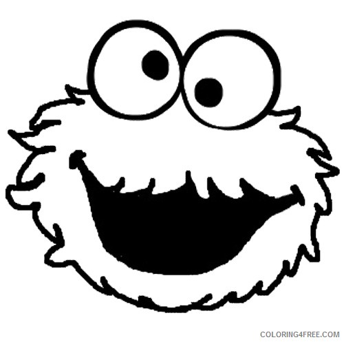 cookie monster face coloring pages Coloring4free