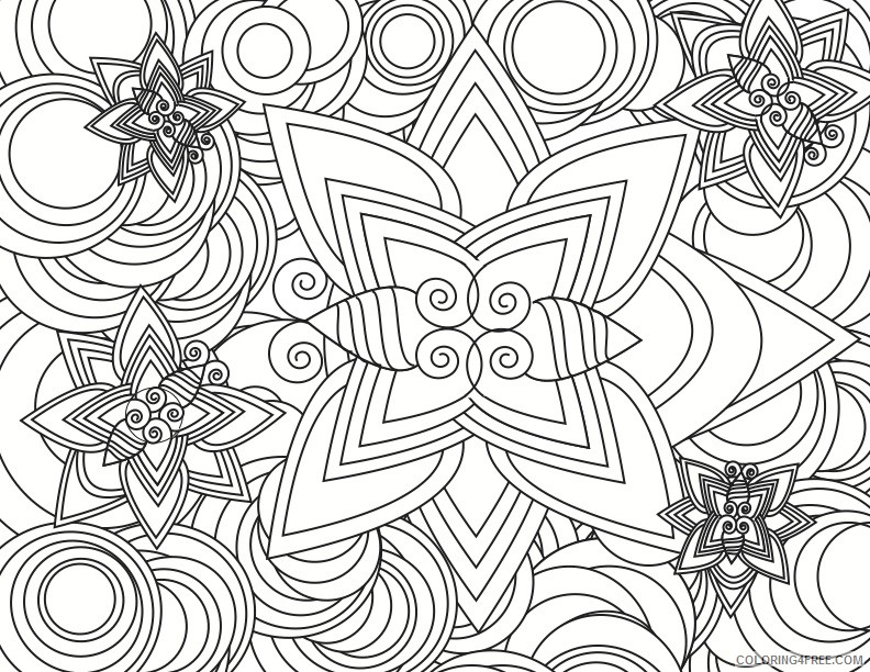 cool abstract printable coloring pages Coloring4free
