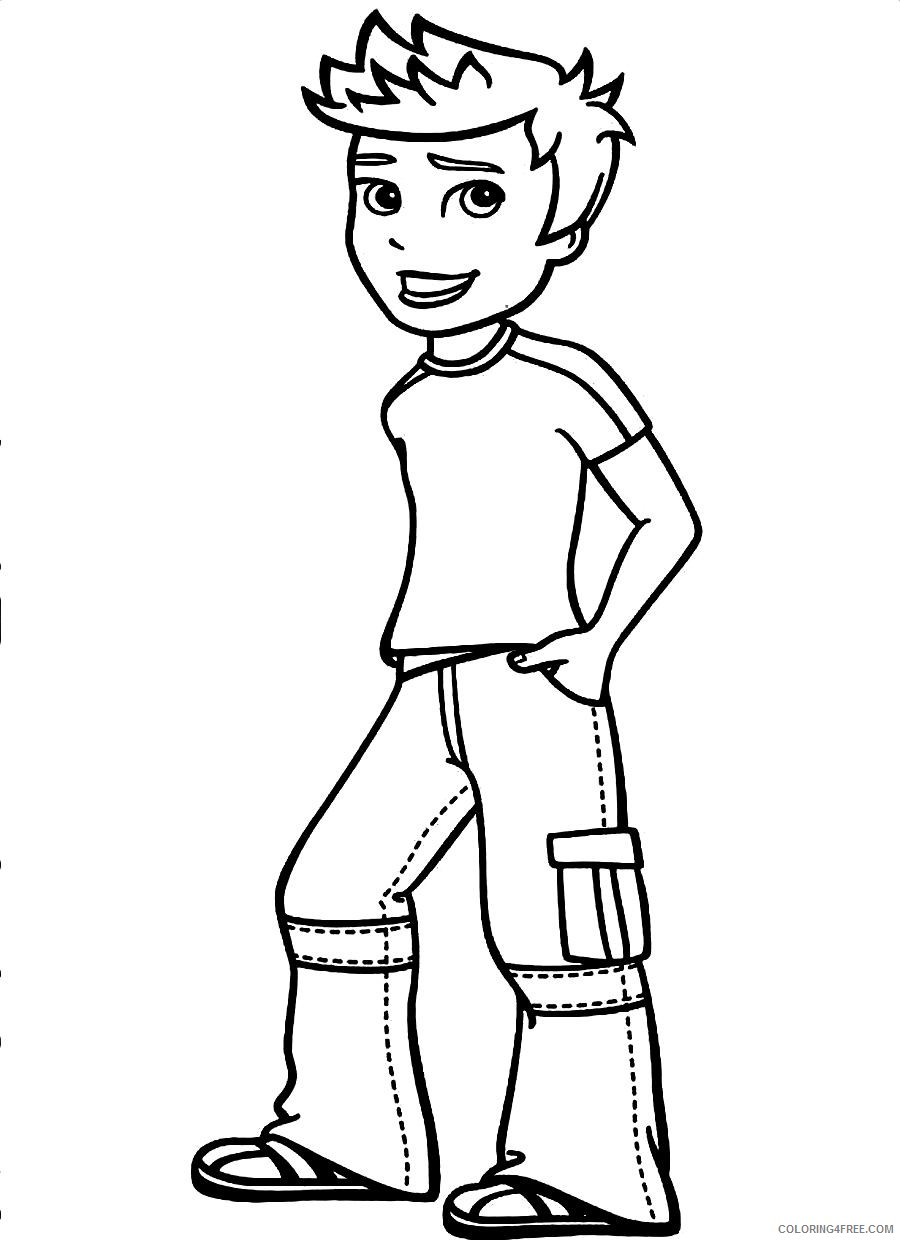 cool boy coloring pages Coloring4free