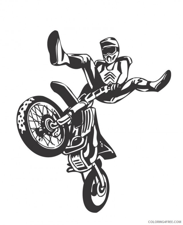 cool dirt bike coloring pages Coloring4free