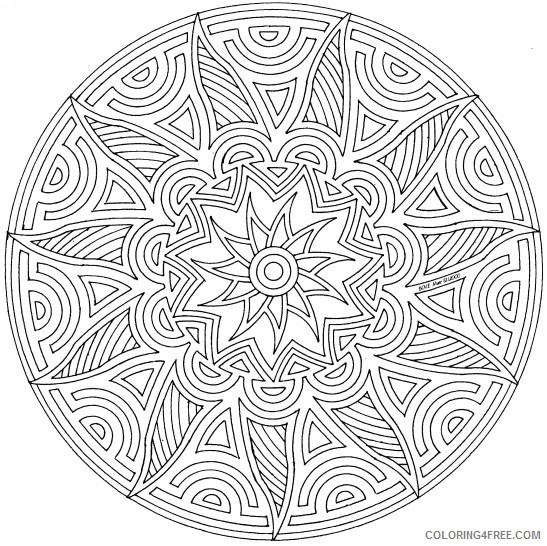 cool geometric coloring pages to print Coloring4free