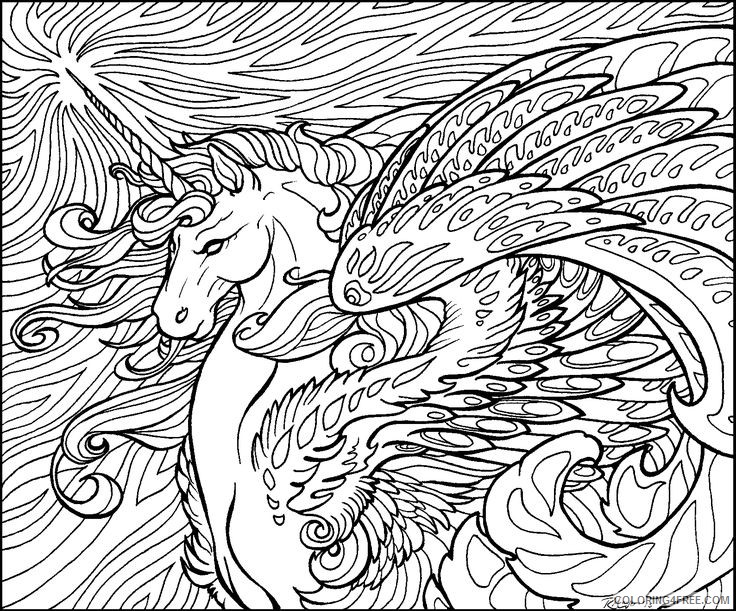 cool hard coloring pages for adults Coloring4free