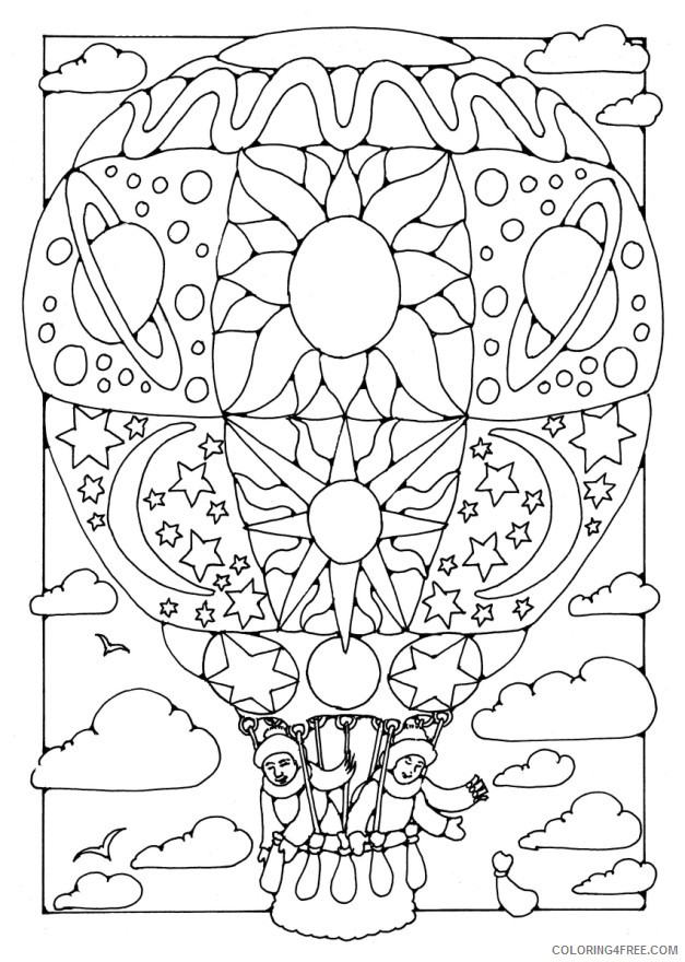 cool hot air balloon coloring pages Coloring4free